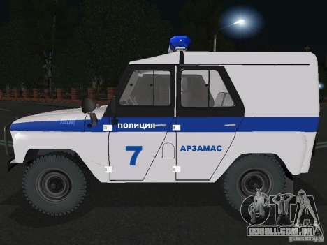 UAZ-31512 polícia para GTA San Andreas esquerda vista