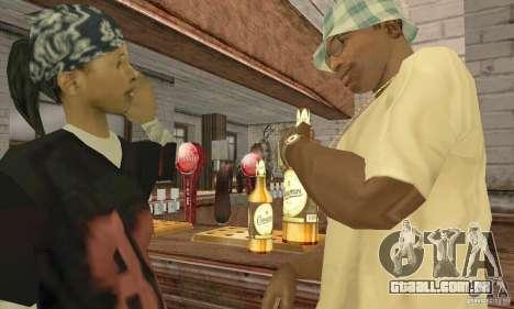 Cerveja SLAVUTYCH para GTA San Andreas terceira tela
