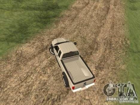 Ford Super Duty F-550 para GTA San Andreas vista traseira