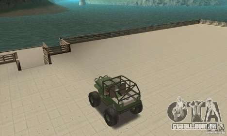 Jeep Willys Rock Crawler para GTA San Andreas vista interior