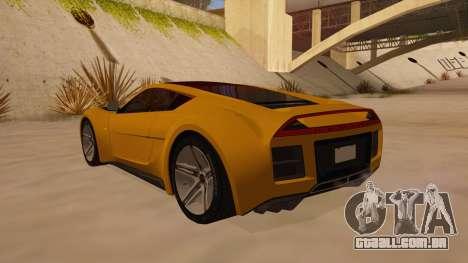 Saleen S5S Raptor 2010 para GTA San Andreas traseira esquerda vista