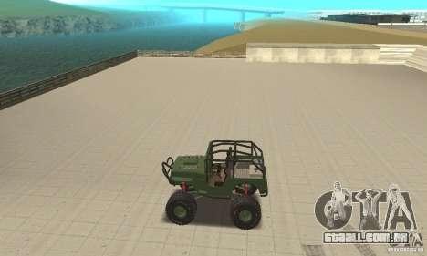 Jeep Willys Rock Crawler para GTA San Andreas vista traseira