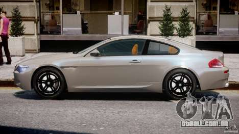 BMW M6 G-Power Hurricane para GTA 4 traseira esquerda vista