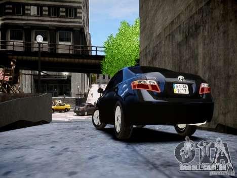 Toyota Camry para GTA 4 esquerda vista