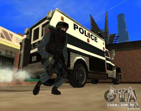 Los Angeles S.W.A.T. Skin para GTA San Andreas por diante tela