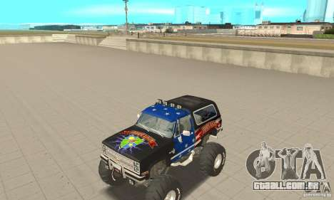 Chevrolet Blazer K5 Monster Skin 3 para GTA San Andreas esquerda vista