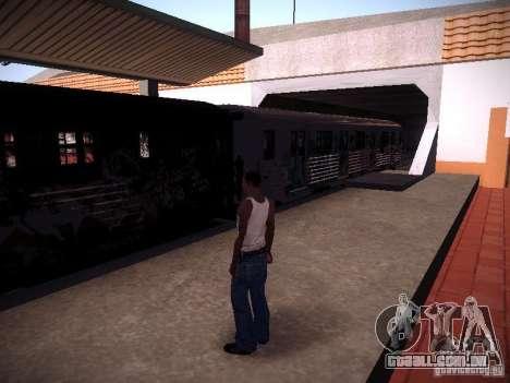 O trem de GTA IV para GTA San Andreas esquerda vista