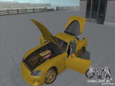 Dodge Viper SRT-10 (dourado Viper) para GTA San Andreas vista direita