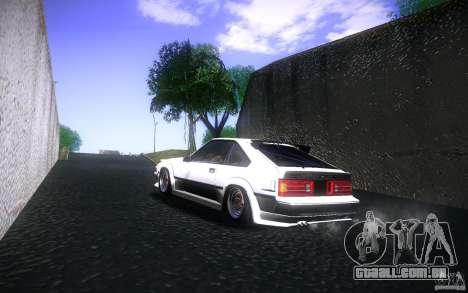 Toyota Supra Drift para GTA San Andreas vista traseira