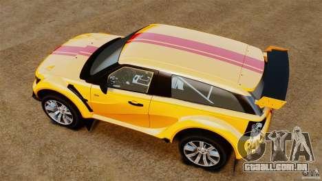 Bowler EXR S 2012 para GTA 4 vista direita