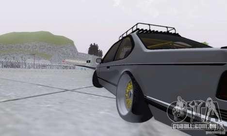BMW M635CSi Stanced para GTA San Andreas vista traseira