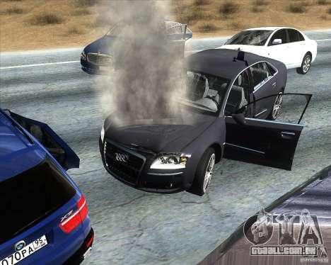 Audi A8L W12 para GTA San Andreas vista direita