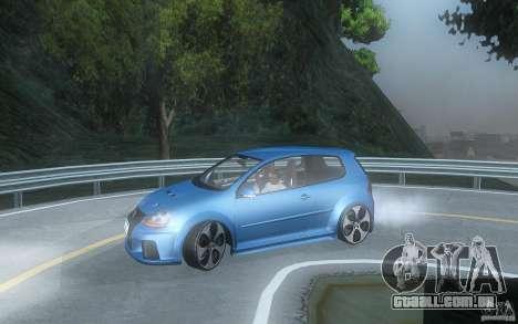 VolksWagen Golf GTI W12 TT Black Revel para GTA San Andreas esquerda vista