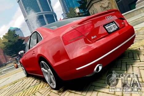 Audi A8 2010 V8 FSI para GTA 4 vista direita