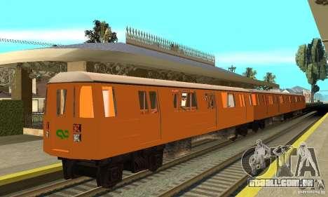 Liberty City Train CP para GTA San Andreas traseira esquerda vista