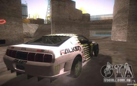Ford Mustang Monster Energy para GTA San Andreas vista traseira