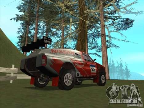 Nissan Pickup para GTA San Andreas traseira esquerda vista