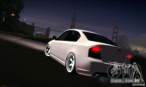 Subaru Legacy BIT edition 2004 para GTA San Andreas vista inferior