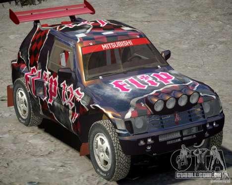 Mitsubishi Pajero Proto Dakar vinil 3 para GTA 4