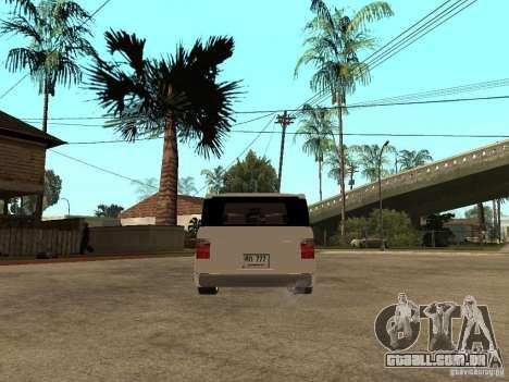Honda Element para GTA San Andreas traseira esquerda vista