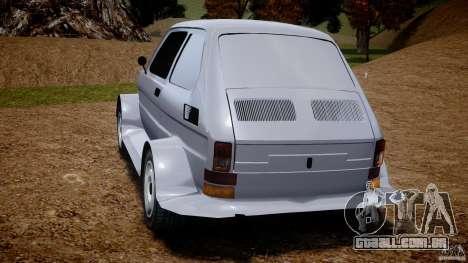 Fiat 126p Bis Rally para GTA 4 traseira esquerda vista