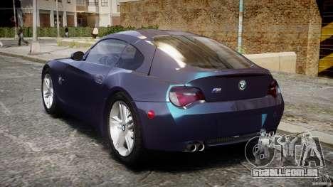 BMW Z4 V3.0 Tunable para GTA 4 traseira esquerda vista