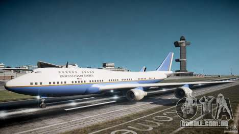 Air Force One v1.0 para GTA 4 esquerda vista