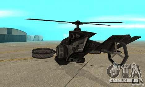 Um helicóptero do jogo TimeShift Black para GTA San Andreas vista direita