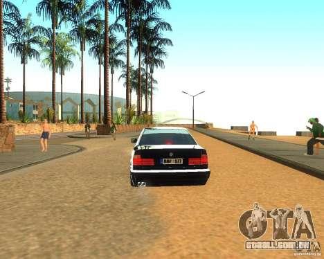 BMW 525i E34 para GTA San Andreas traseira esquerda vista