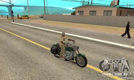 Harley Davidson FLSTF (Fat Boy) v2.0 Skin 1 para GTA San Andreas vista direita