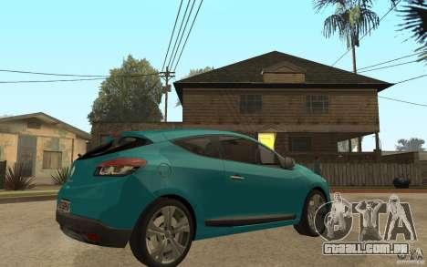 Renault Megane 3 Coupe para GTA San Andreas vista direita