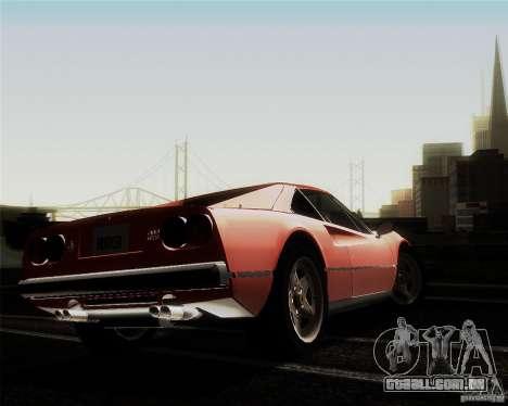 Ferrari 308 GTS Quattrovalvole para vista lateral GTA San Andreas