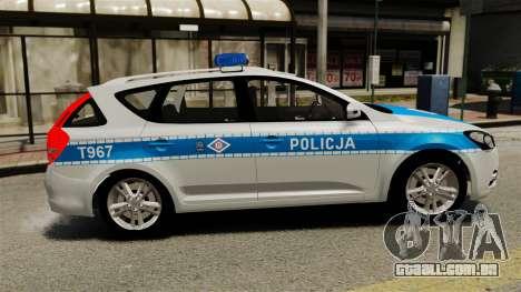Kia Ceed 2011 SW Polish Police ELS para GTA 4 esquerda vista