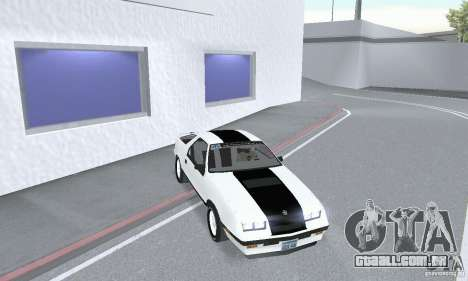 Dodge Daytona Turbo CZ 1986 para GTA San Andreas vista direita