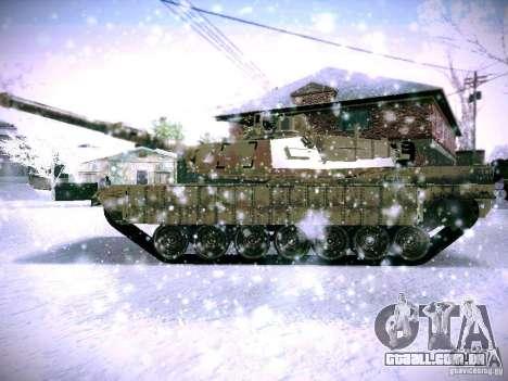 M1A2 Abrams de Battlefield 3 para GTA San Andreas vista direita