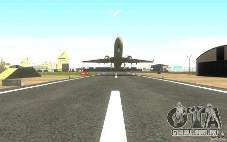 Sukhoi SuperJet-100 para GTA San Andreas traseira esquerda vista