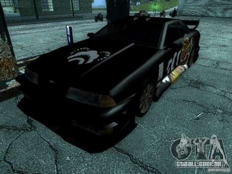 Vinil grande Lou de Most Wanted para GTA San Andreas traseira esquerda vista