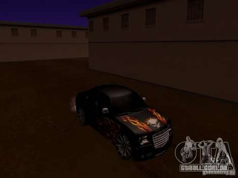 Chrysler 300C SRT8 2007 para GTA San Andreas vista superior