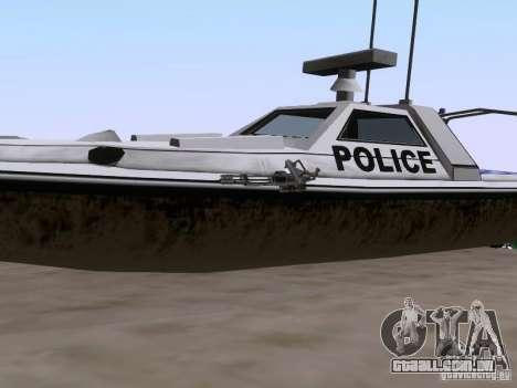 NEW Predator para GTA San Andreas vista traseira