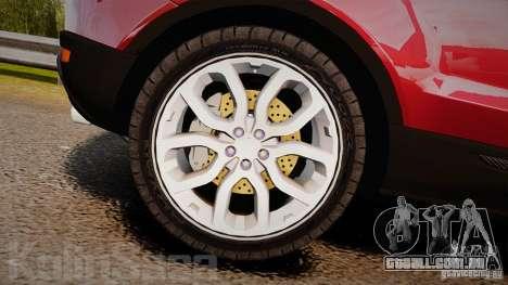 Range Rover Evoque para GTA 4 vista interior
