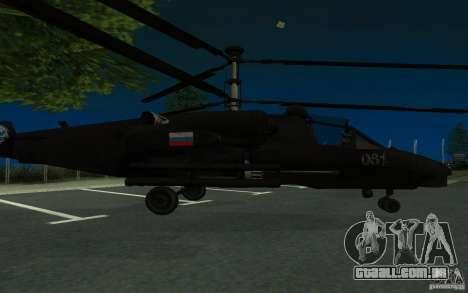 KA-52 ALLIGATOR v1.0 para GTA San Andreas esquerda vista