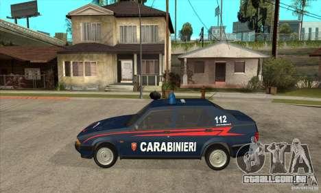 Alfa Romeo 75 Carabinieri para GTA San Andreas esquerda vista