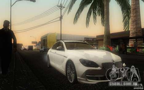 BMW 6 Series Gran Coupe 2013 para GTA San Andreas vista traseira