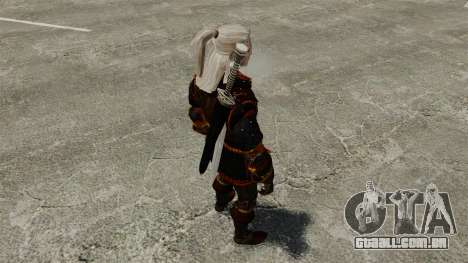 Geralt de Rivia v4 para GTA 4 por diante tela