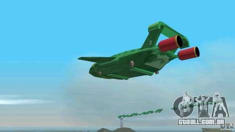 ThunderBird 2 para GTA Vice City vista interior