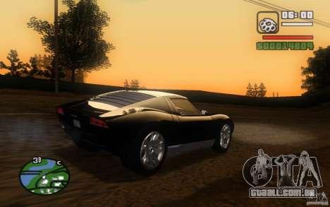 Lamborghini Miura Concept para GTA San Andreas vista interior