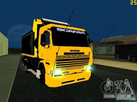 Scania 113H para GTA San Andreas vista traseira