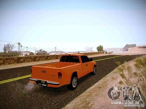 Dodge Ram 1500 Dacota para GTA San Andreas vista direita