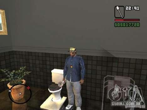 Escova de vaso sanitário para GTA San Andreas por diante tela