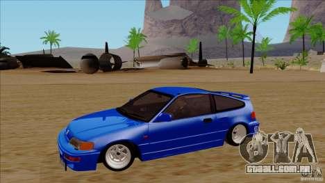 Honda CRX Hella Flush para GTA San Andreas vista interior